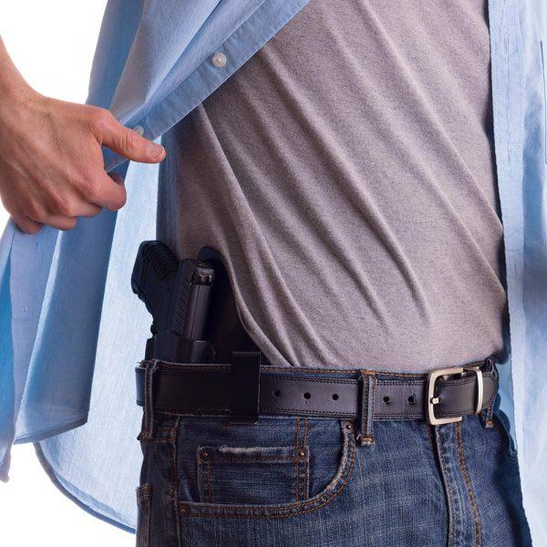 person with handgun