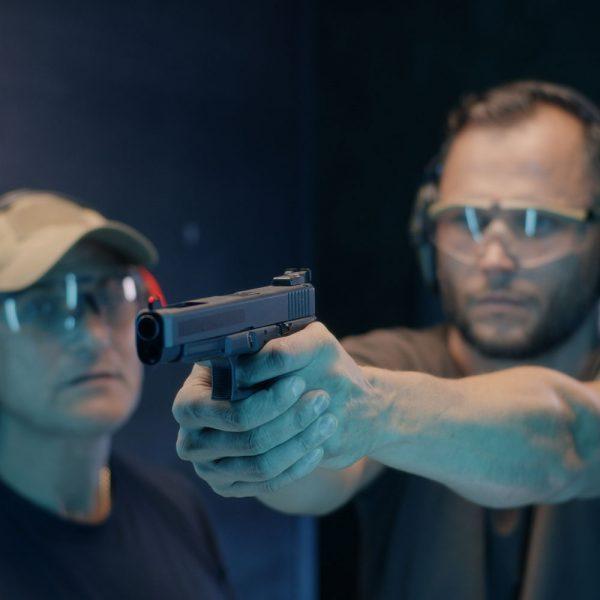 Mens handgun course